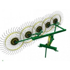 Колесно пальцевые грабли ворошилки «Солнышко» (5 колес)