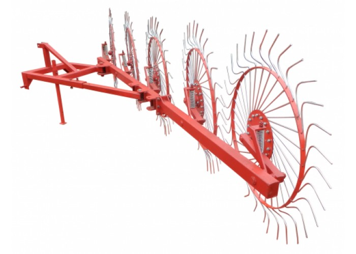 Грабли колесно-пальцевые «Солнышко» на 5 колес - Фото 1
