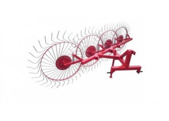 Грабли колесно-пальцевые «Солнышко» на 4 колеса (Н) - Фото 1