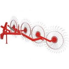 Колесно пальцевые грабли ворошилки «Солнышко» (4 колеса)