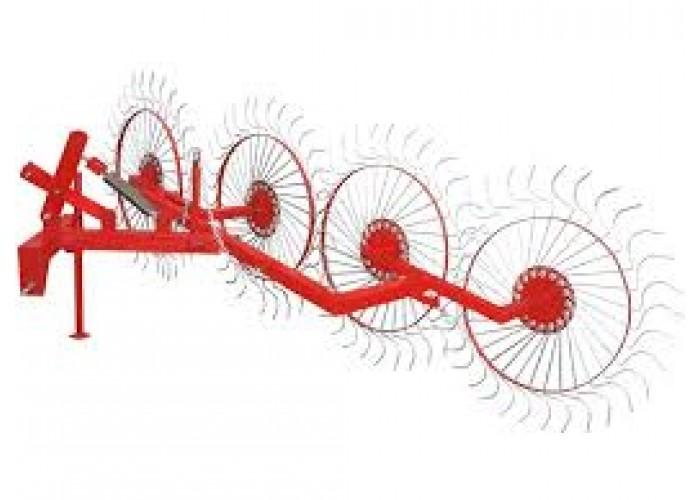 Колесно пальцевые грабли ворошилки «Солнышко» (4 колеса) - Фото 1